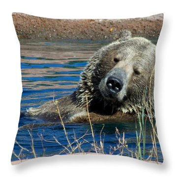 Waiting On Lunch Throw Pillow by Karen Wiles