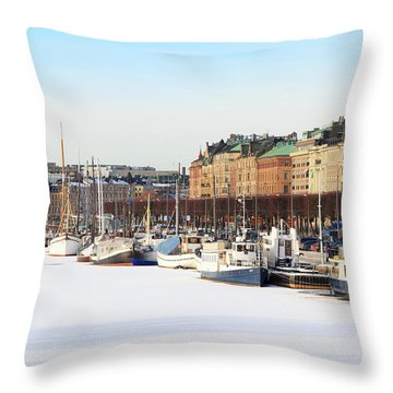 Waiting Out Winter Throw Pillow
