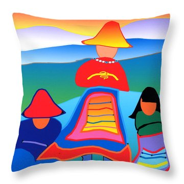 Throw Pillow featuring the digital art Waiting Patiently by Mary Armstrong