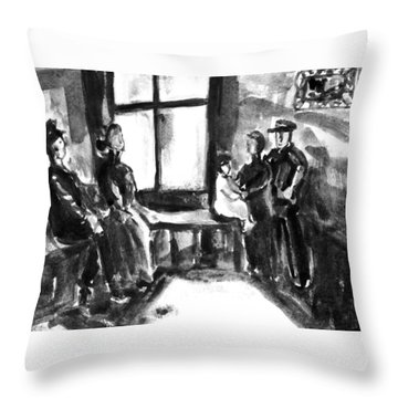 Waiting Room Throw Pillow by Hae Kim