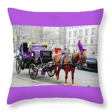 Waiting Throw Pillow by Sandy Moulder
