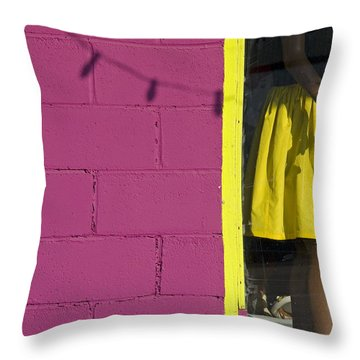 Waiting Throw Pillow by Skip Hunt