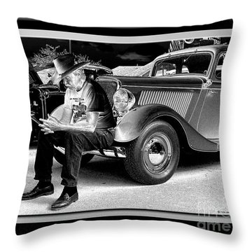 Waiting  Throw Pillow by Sue Stefanowicz