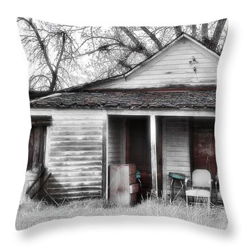 Waiting Throw Pillow by Susan Kinney
