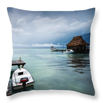 Throw Pillow featuring the photograph Waiting The Sun by Yuri Santin