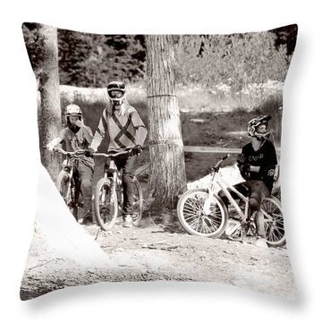 Waiting Their Turn Throw Pillow