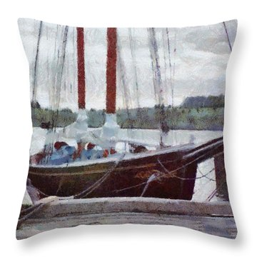 Waiting To Sail Throw Pillow by Jeff Kolker