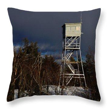 Waiting Tower Throw Pillow