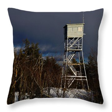 Waiting Tower Throw Pillow