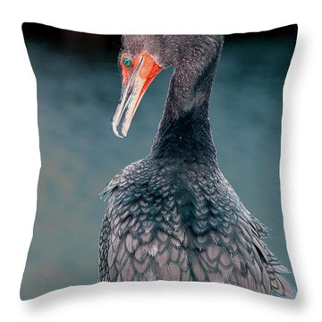 Waiting Throw Pillow by William Feig