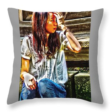 Waitng For You Throw Pillow by Tim Ernst