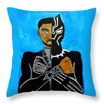 Throw Pillow featuring the painting Wakanda Forever by Christopher Farris