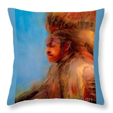 Wakantanka Maka Kin Kaye Throw Pillow by FeatherStone Studio Julie A Miller