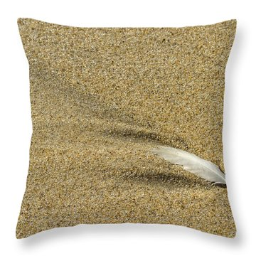 Wake Of A Feather Throw Pillow