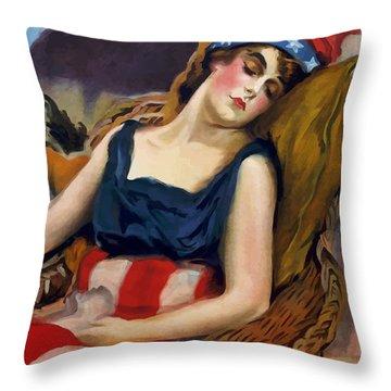 Wake Up America - Civilization Calls Throw Pillow