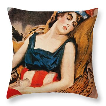 Wake Up America Poster Throw Pillow by Granger