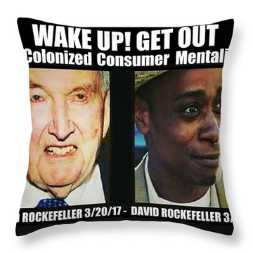 Wake Up Get Out Throw Pillow