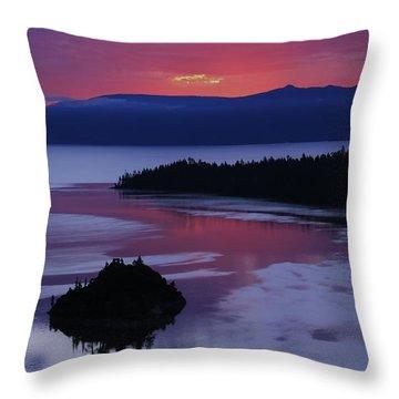 Wake Up In Lake Tahoe  Throw Pillow