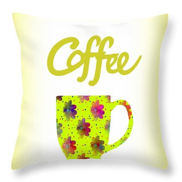 Wake Up To Coffee Throw Pillow