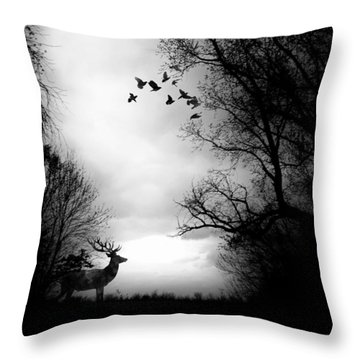 Waking From Winters Sleep Throw Pillow