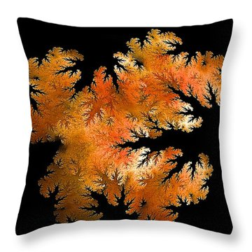 Waking In Mandelbrot Forest-2 Throw Pillow