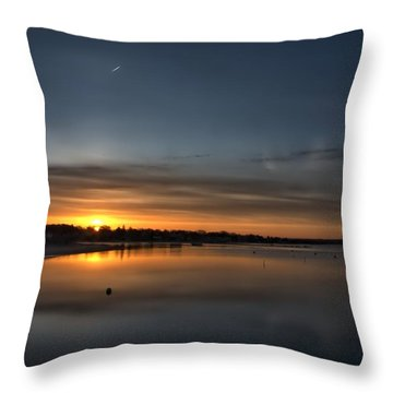 Waking To A Cold Sunrise Throw Pillow