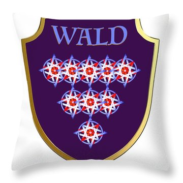 Wald Family Crest Throw Pillow
