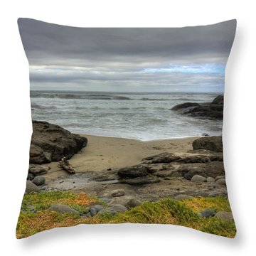 Waldport Beach Beauty Throw Pillow