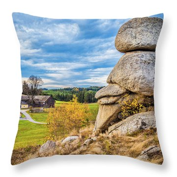 Waldviertel Throw Pillow by JR Photography
