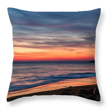 Wales Gower Coast Dusk Throw Pillow