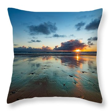 Wales Gower Coast Summer  Throw Pillow