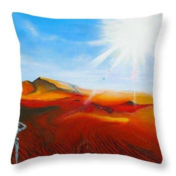 Walk A Mile Throw Pillow by Raymond Perez