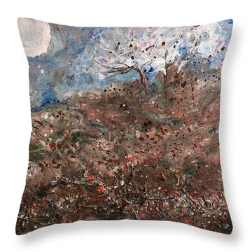 Walk Across The Windy Moor Throw Pillow