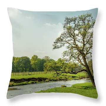 Walk Along The Hodder Throw Pillow