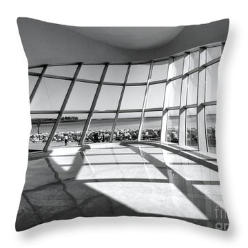 Walk Along The Lake Throw Pillow