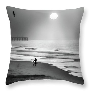 Walk Beneath The Moon Throw Pillow by Karen Wiles