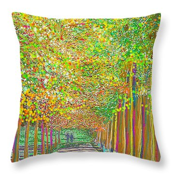 Walk In Park Cathedral Throw Pillow