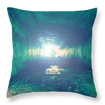 Throw Pillow featuring the photograph Walk In The Light by Joel Witmeyer