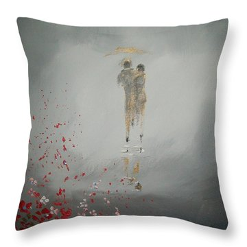Walk In The Storm Throw Pillow by Raymond Doward