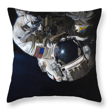 Walk Into Darkness  Throw Pillow by Simon Kregar