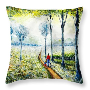 Walk Into The World Throw Pillow