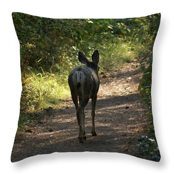 Walk On Throw Pillow