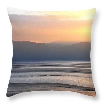 Walk On The Beach Throw Pillow by Harry Robertson