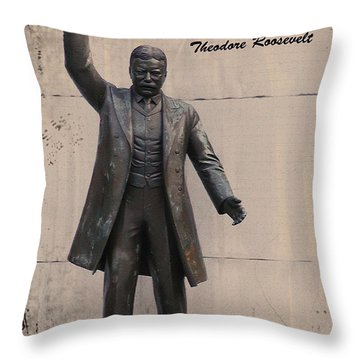Walk Softly And Carry A Big Stick Throw Pillow by Bill Cannon