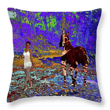 Walk The Enchanted Forest Throw Pillow