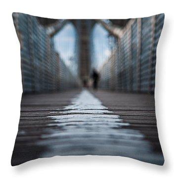Walk The Line Throw Pillow