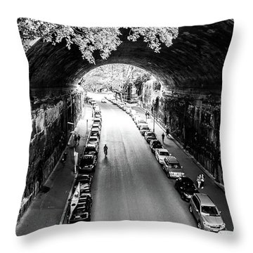 Throw Pillow featuring the photograph Walk The Tunnel by Perry Webster