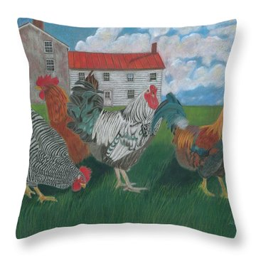 Walk This Way Throw Pillow by Arlene Crafton