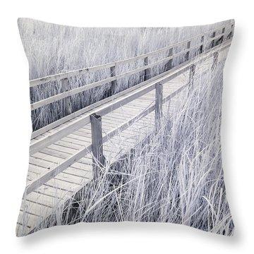 Walk Through The Marsh Throw Pillow