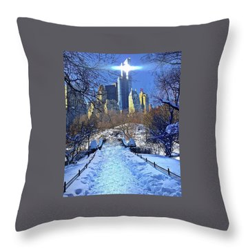 Walk Thru Central Park Throw Pillow